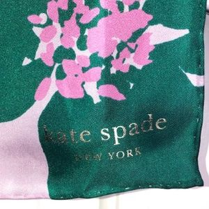 kate spade Accessories - Kate Spade Mirage Pink Grand Flora silk scarf.NWT!